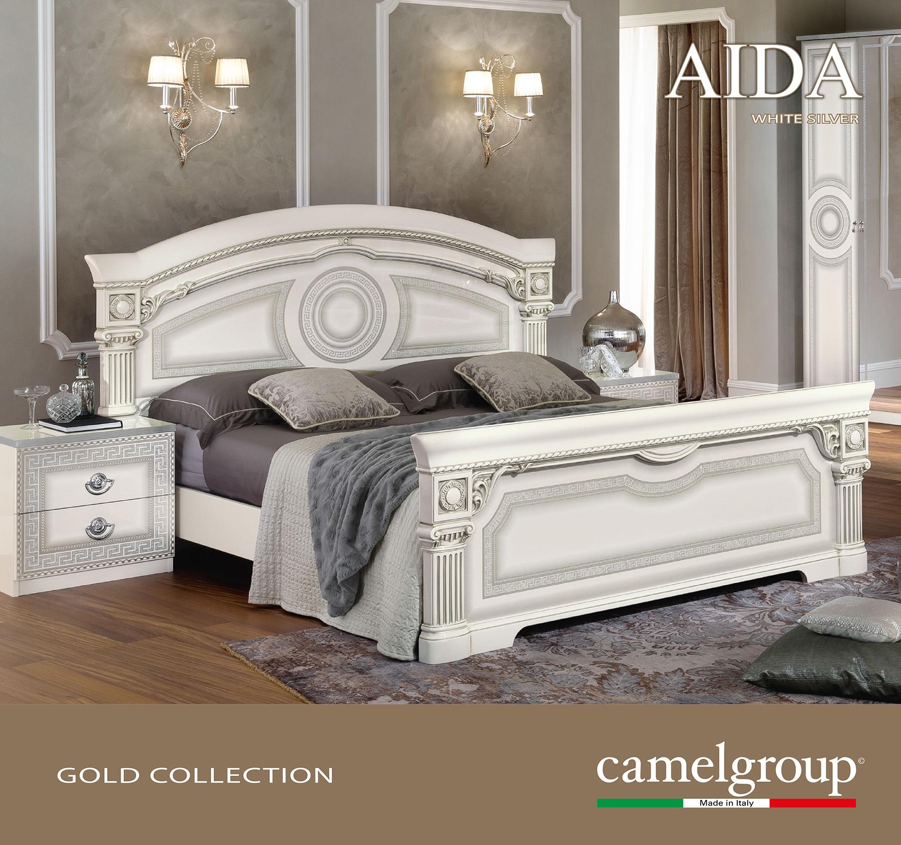 Aida White W/Silver Bed